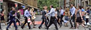 Busy Sydney city street