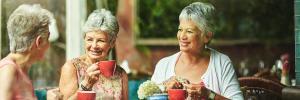 Pensioners enjoying retirement
