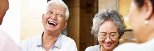 Elderly couple enjoying life